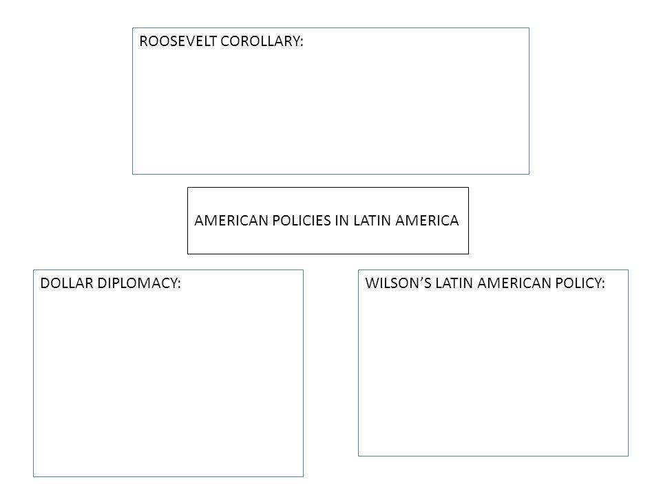 ROOSEVELT COROLLARY: AMERICAN POLICIES IN LATIN AMERICA.
