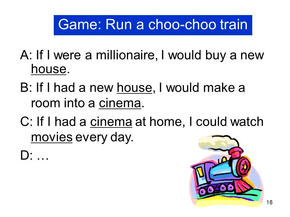 Game: Run a choo-choo train