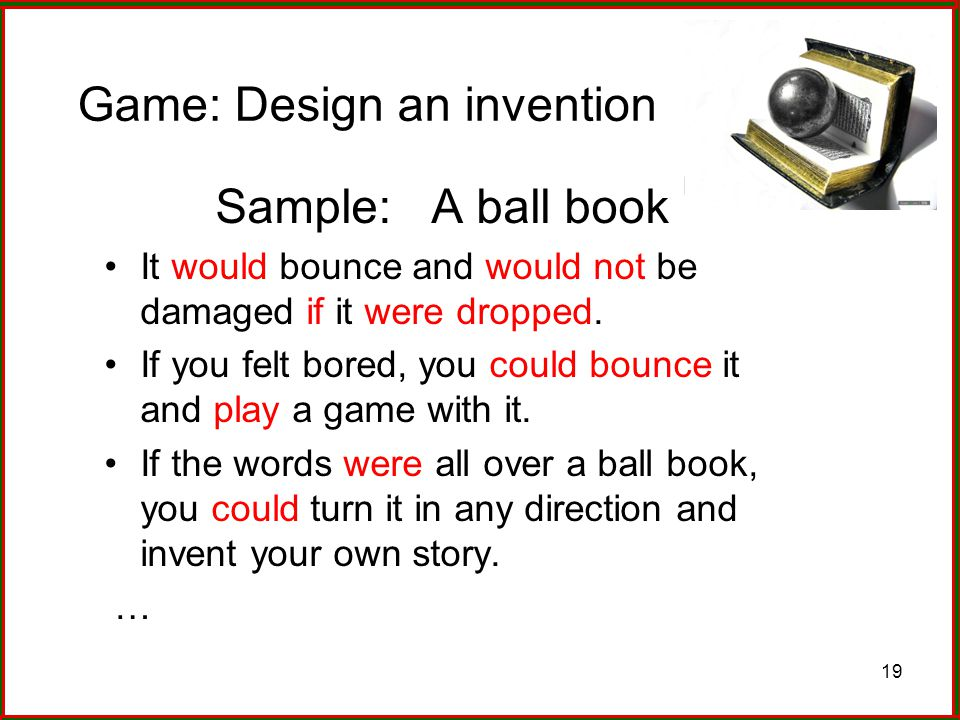 Game: Design an invention