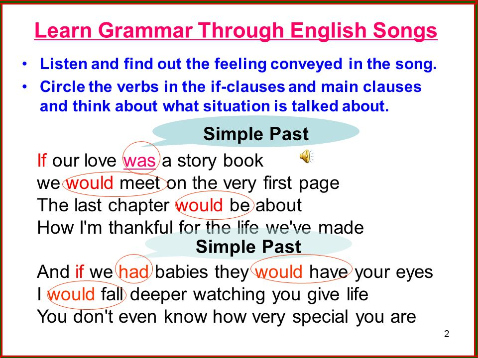 Learn Grammar Through English Songs