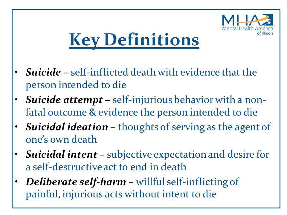 Recognizing Suicidal Behavior