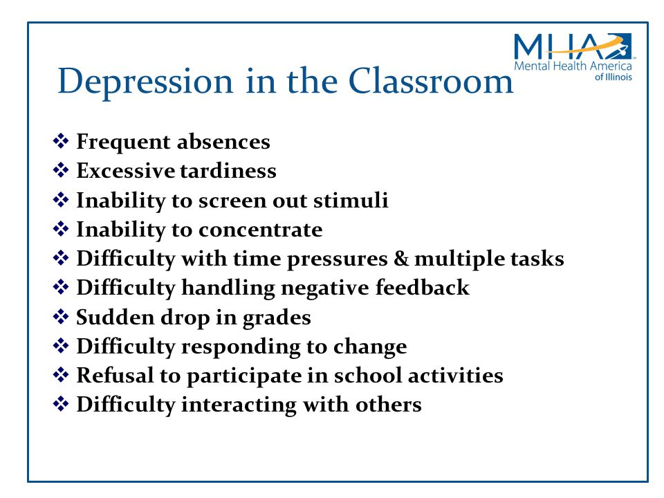 Depression in the Classroom