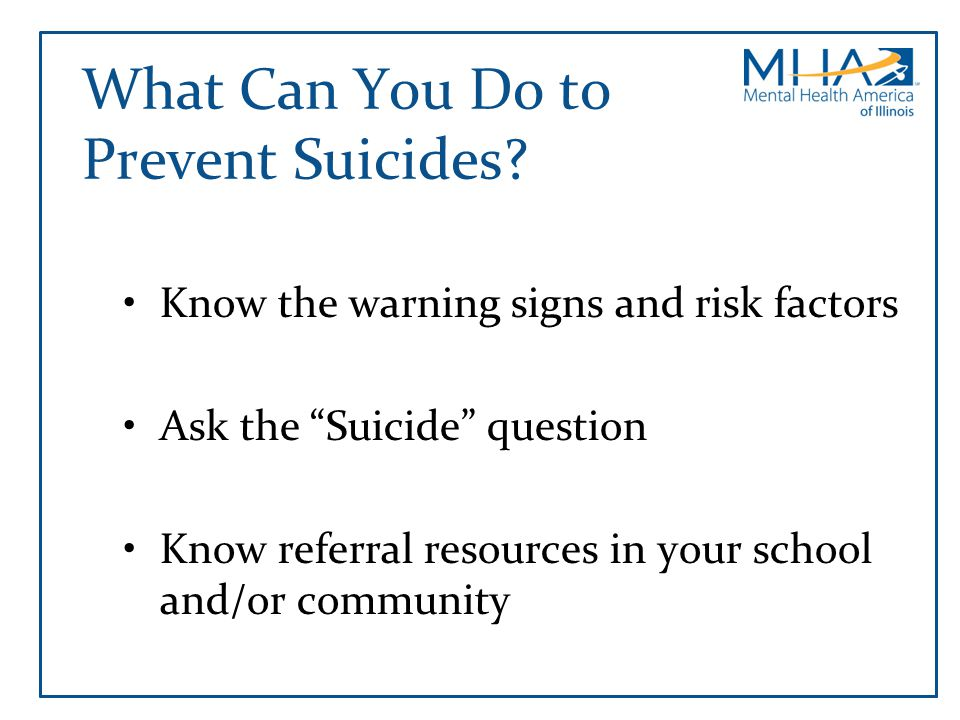 What Can You Do to Prevent Suicides
