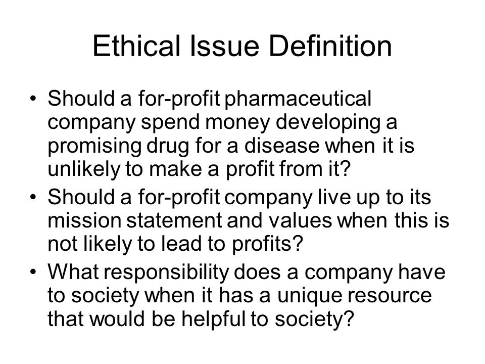 Ethical Issue Definition