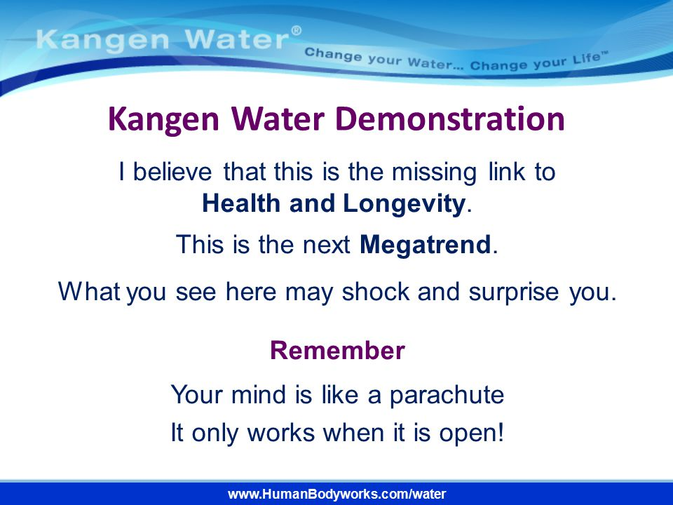 Kangen Water Demonstration