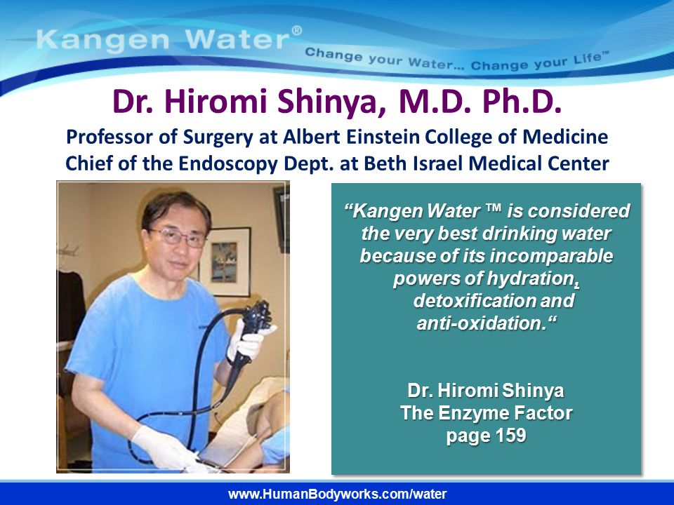 Dr. Hiromi Shinya, M.D. Ph.D. Professor of Surgery at Albert Einstein College of Medicine.