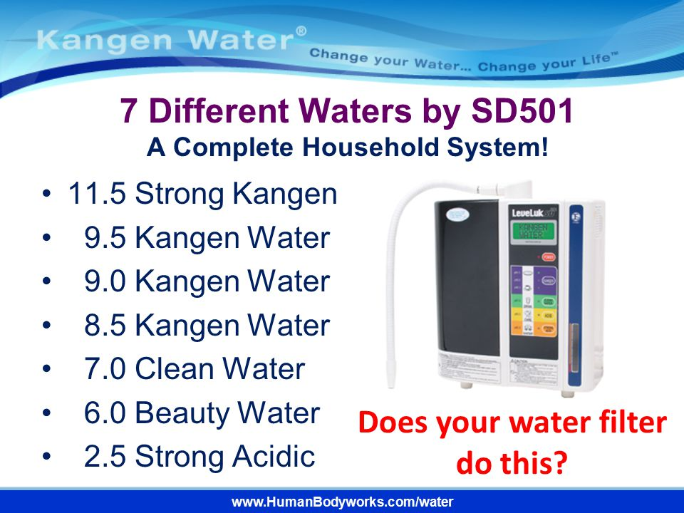 7 Different Waters by SD501 A Complete Household System!