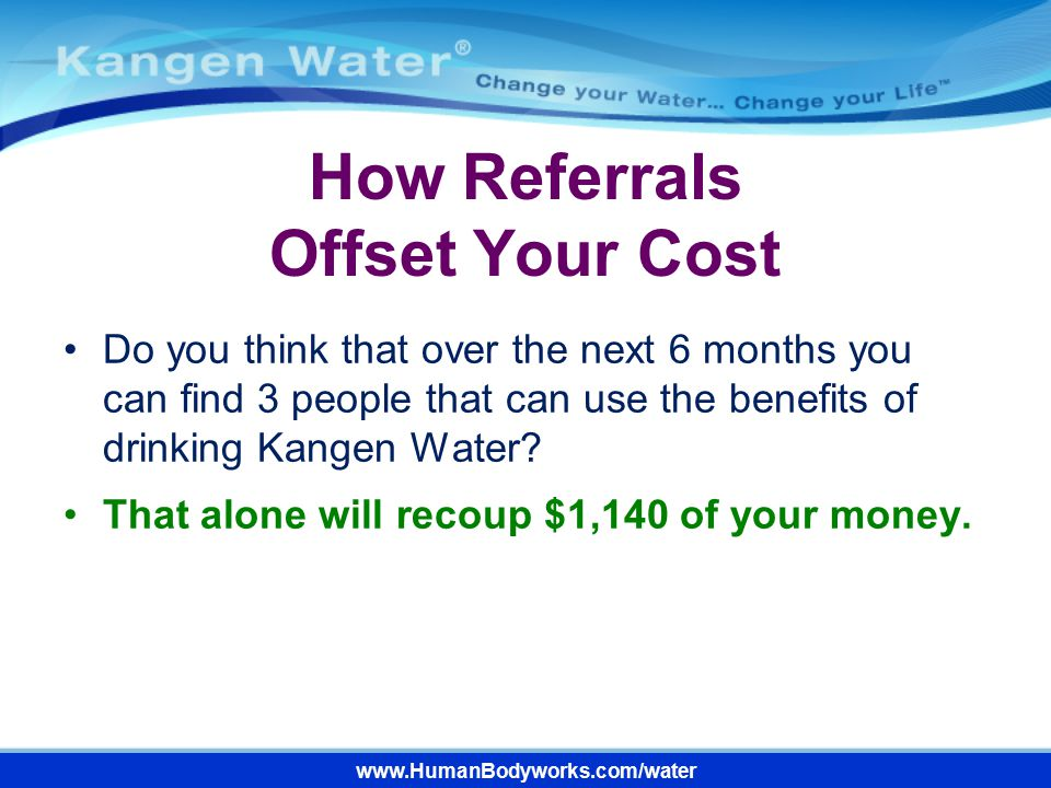 How Referrals Offset Your Cost