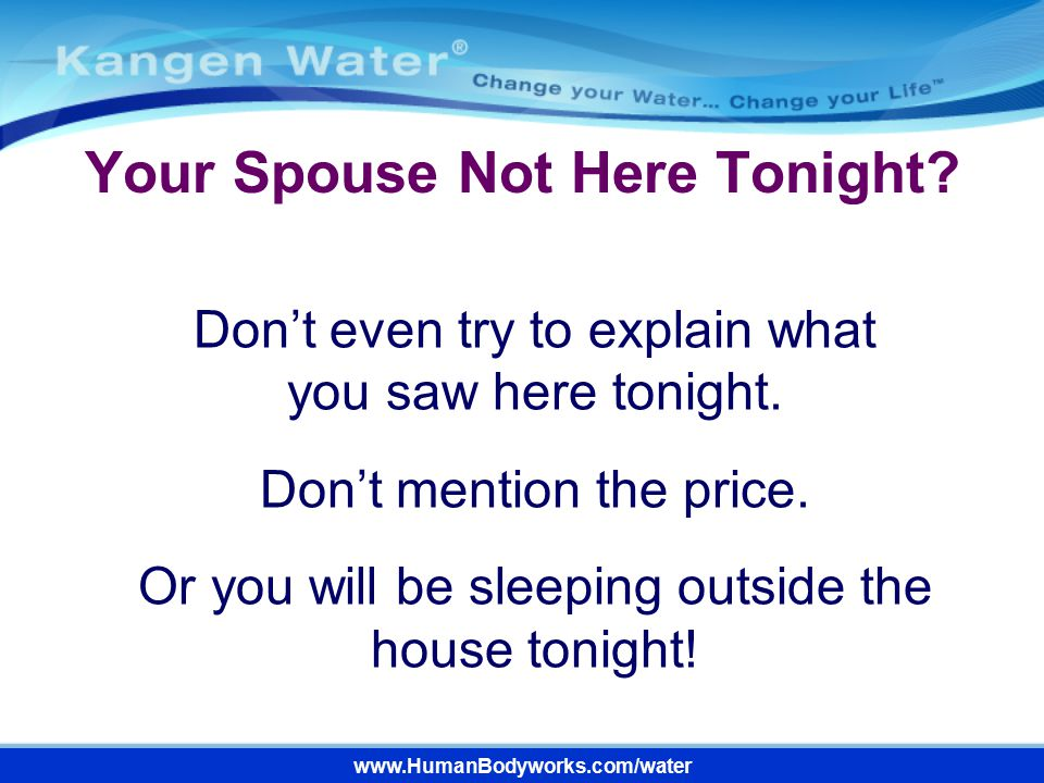 Your Spouse Not Here Tonight