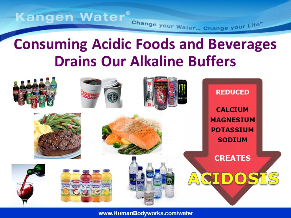 Consuming Acidic Foods and Beverages Drains Our Alkaline Buffers