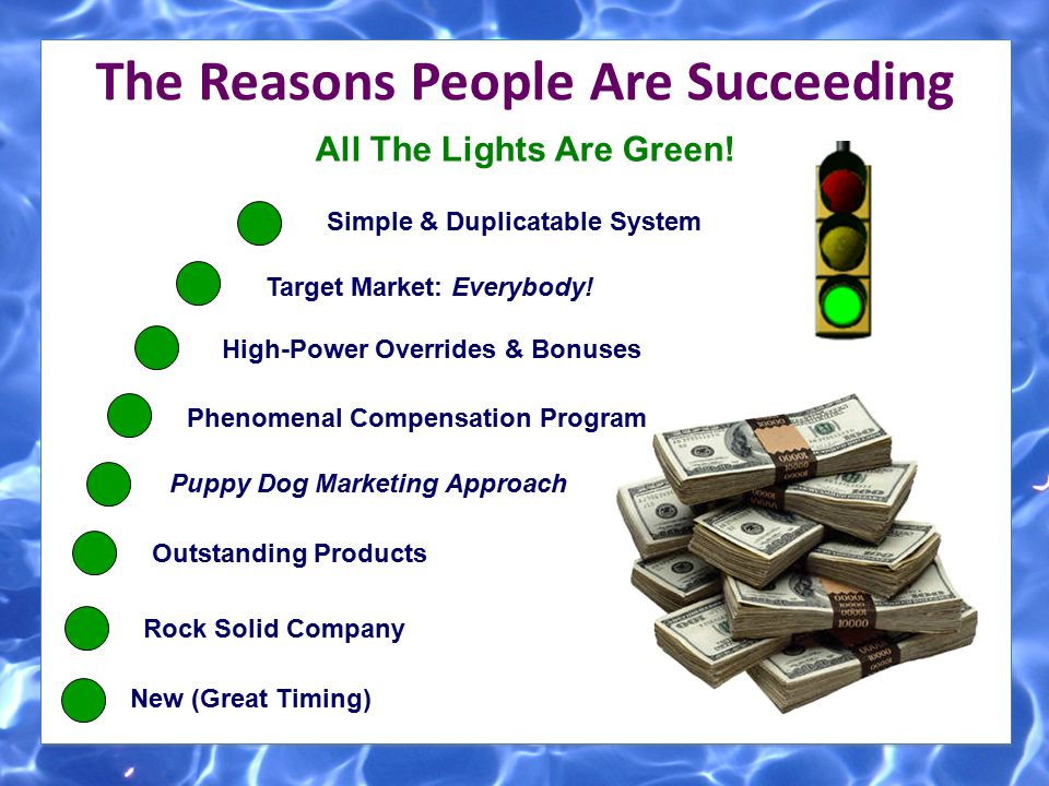 The Reasons People Are Succeeding All The Lights Are Green!