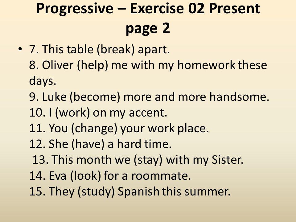 Progressive – Exercise 02 Present page 2