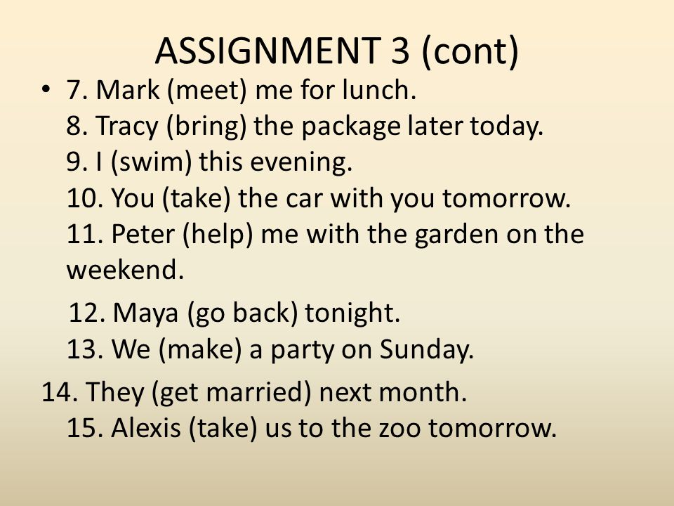 ASSIGNMENT 3 (cont)