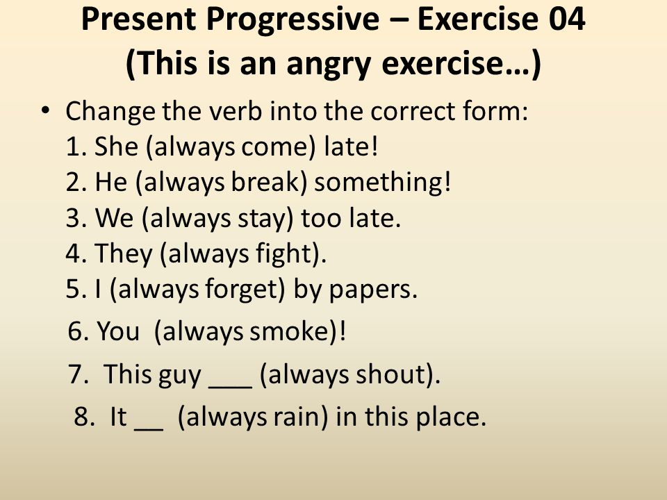 The present progressive - ppt video online download