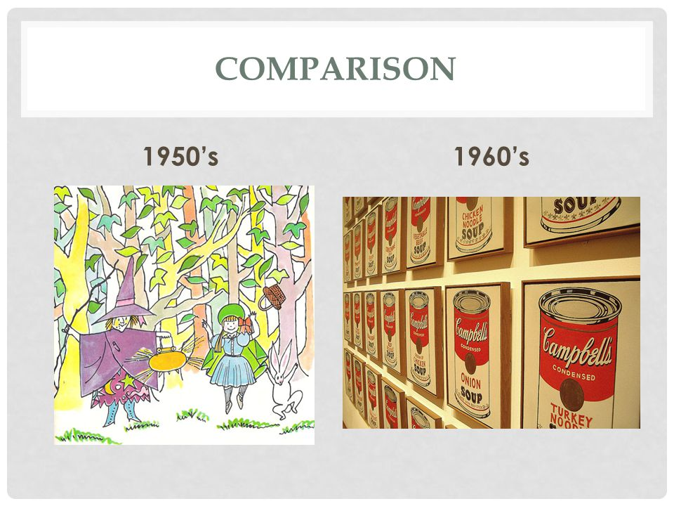 Comparison 1950's 1960's