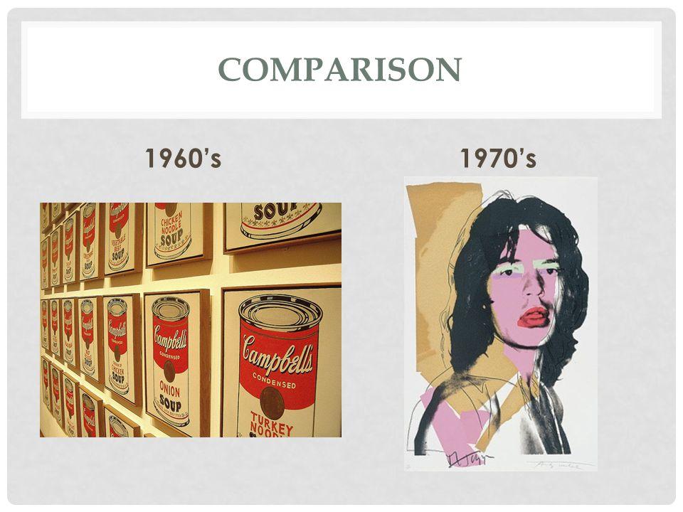 Comparison 1960's 1970's