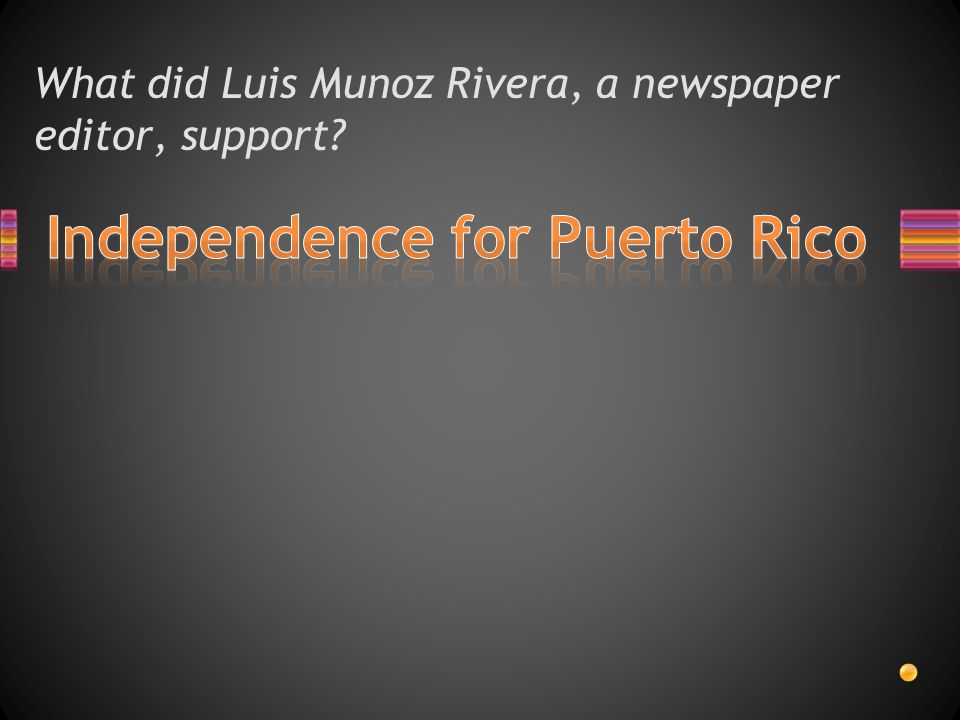 What did Luis Munoz Rivera, a newspaper editor, support