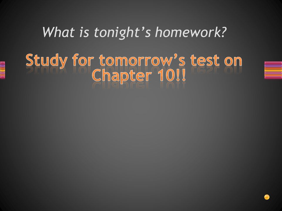 What is tonight's homework