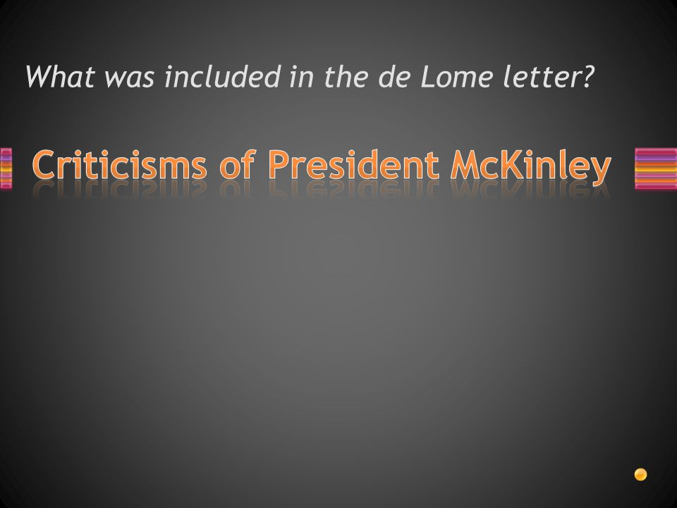 What was included in the de Lome letter