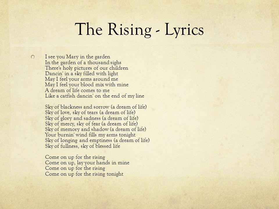 The Rising - Lyrics