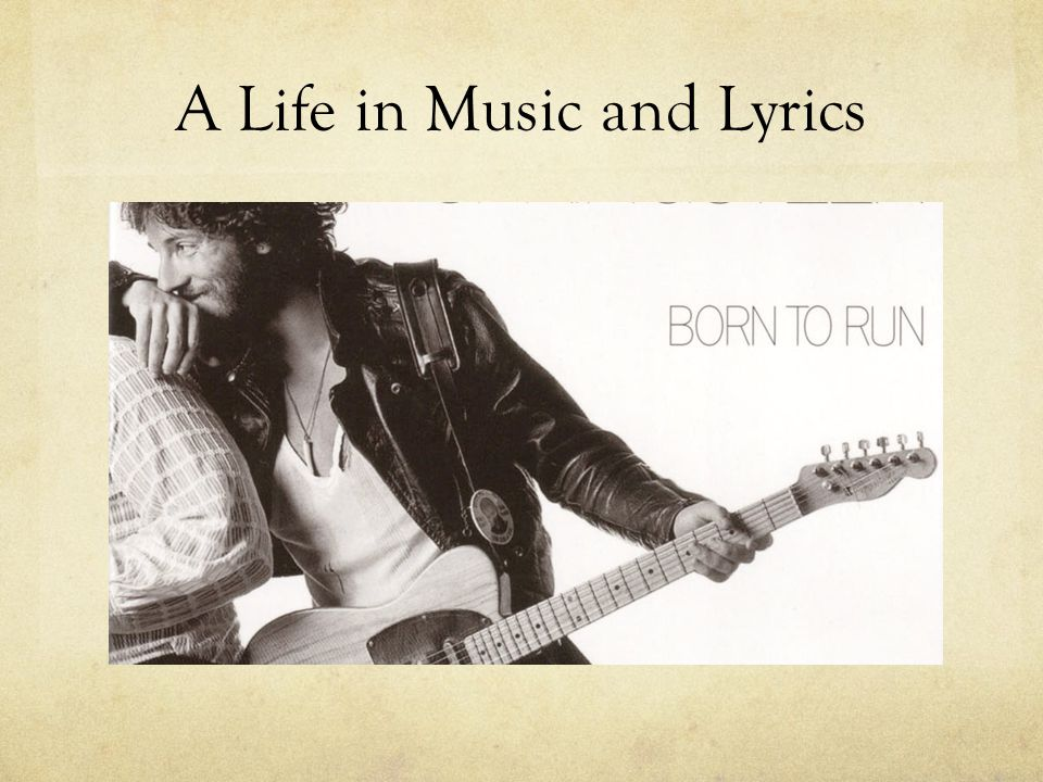 A Life in Music and Lyrics