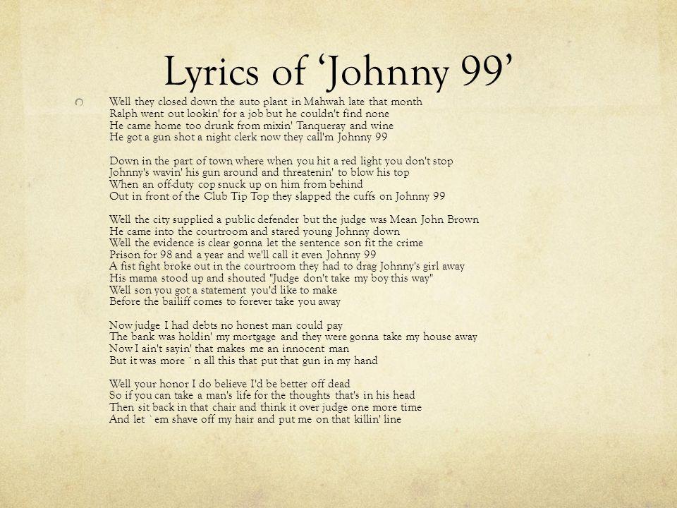 Lyric shot at the night lyrics : Bruce Springsteen Rock Singer. - ppt video online download