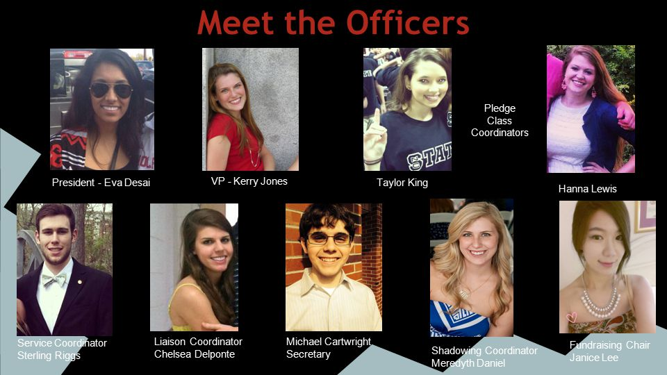 Contact the Officers President - Eva Desai (edesai@ncsu.edu)