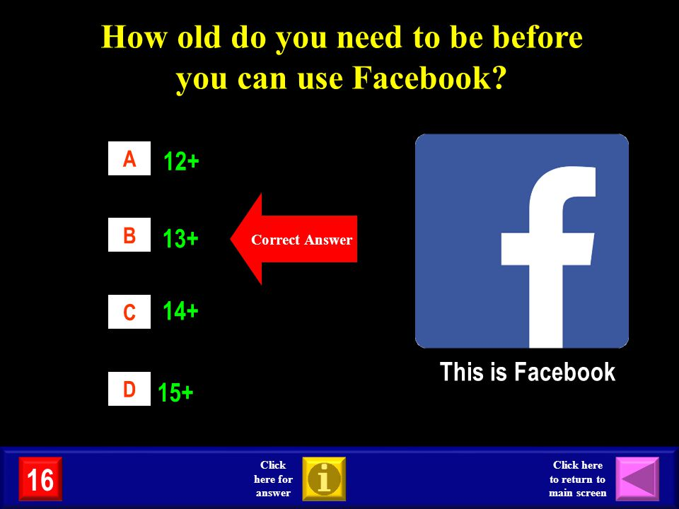How old do you need to be before you can use Facebook