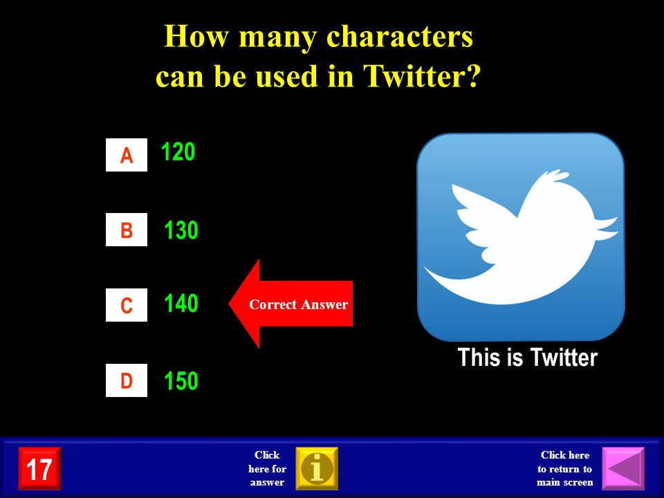 How many characters can be used in Twitter