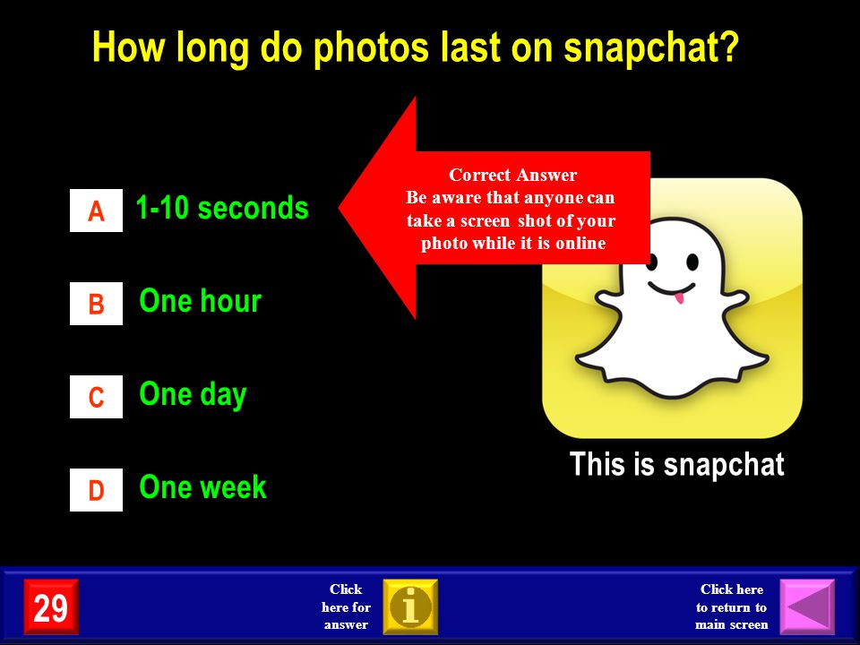 How long do photos last on snapchat