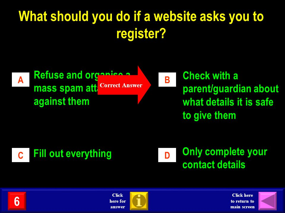 What should you do if a website asks you to register