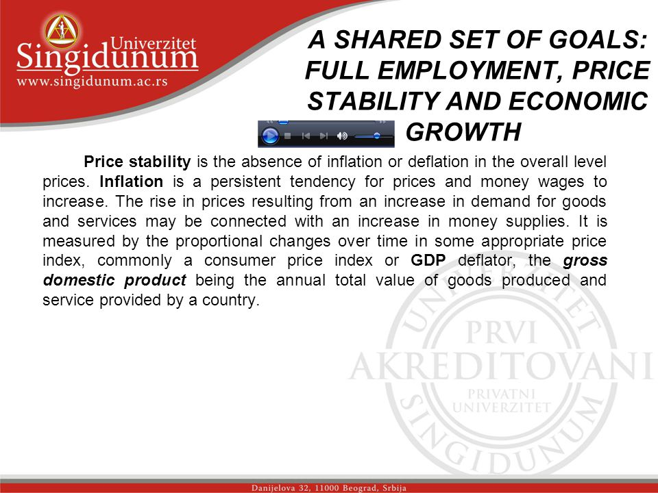A SHARED SET OF GOALS: FULL EMPLOYMENT, PRICE STABILITY AND ECONOMIC GROWTH _str. 2