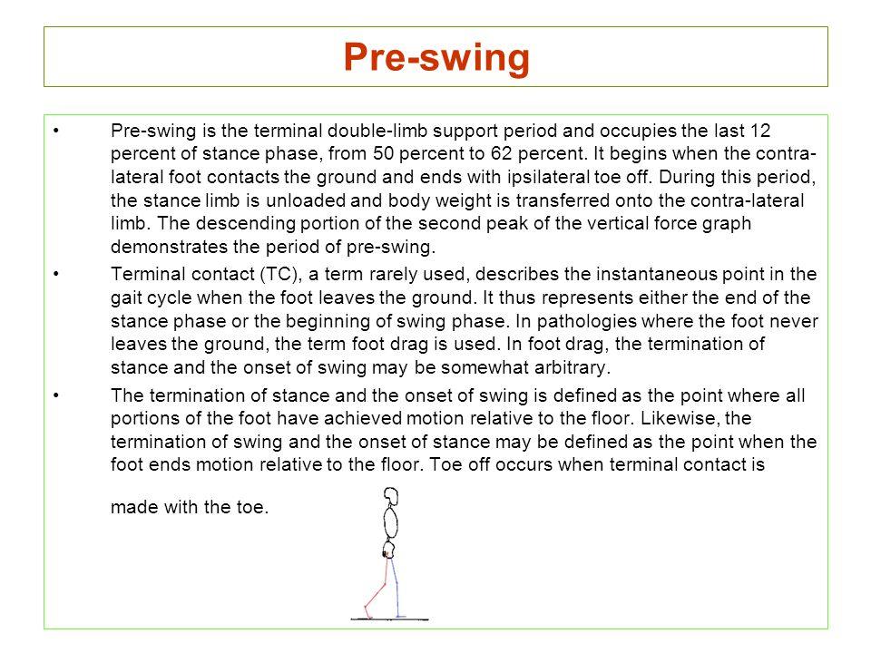 Pre-swing