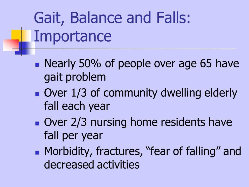 Gait, Balance and Falls: Importance