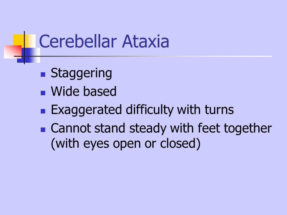 Cerebellar Ataxia Staggering Wide based