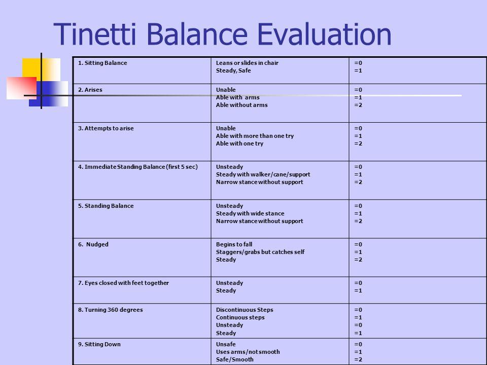 Tinetti Balance Evaluation