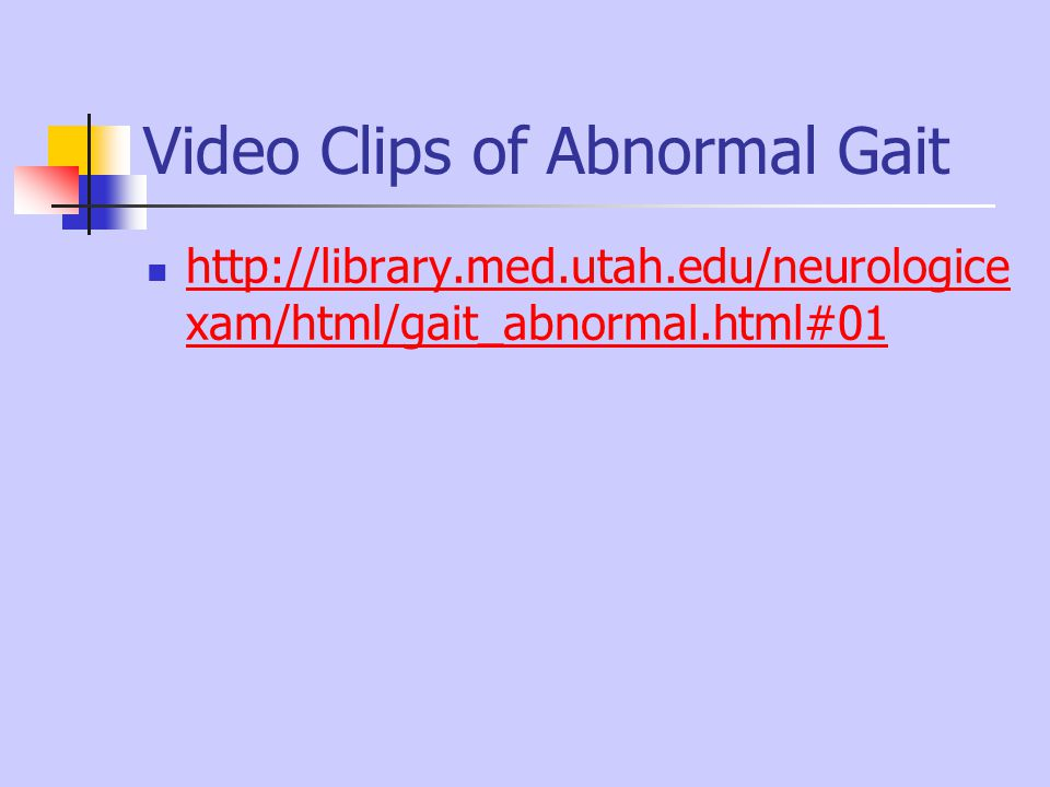 Video Clips of Abnormal Gait