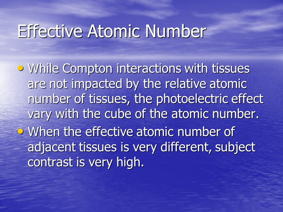 Effective Atomic Number