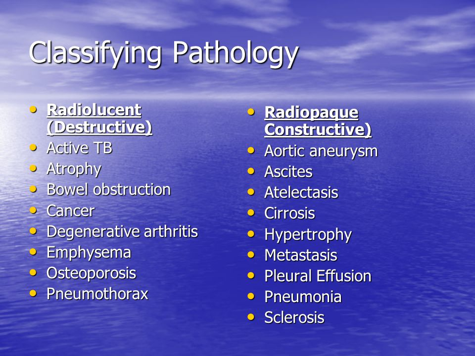 Classifying Pathology