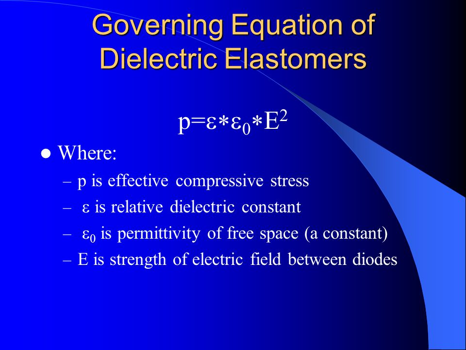Governing Equation of Dielectric Elastomers