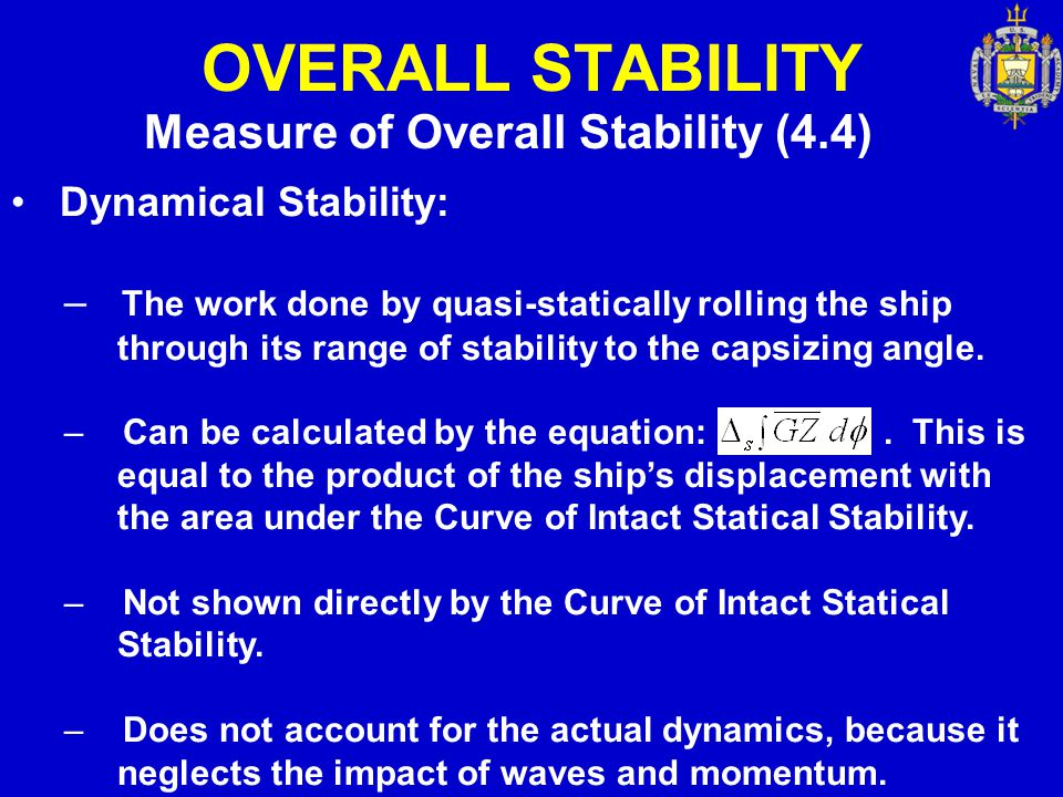 OVERALL STABILITY Measure of Overall Stability (4.4)