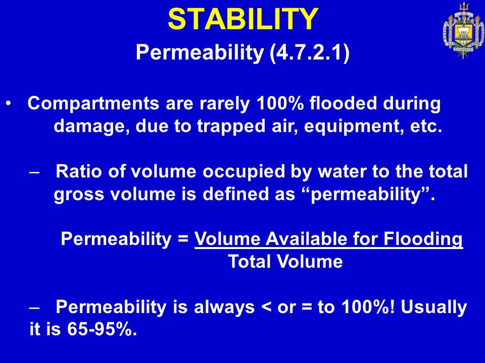 STABILITY Permeability (4.7.2.1)