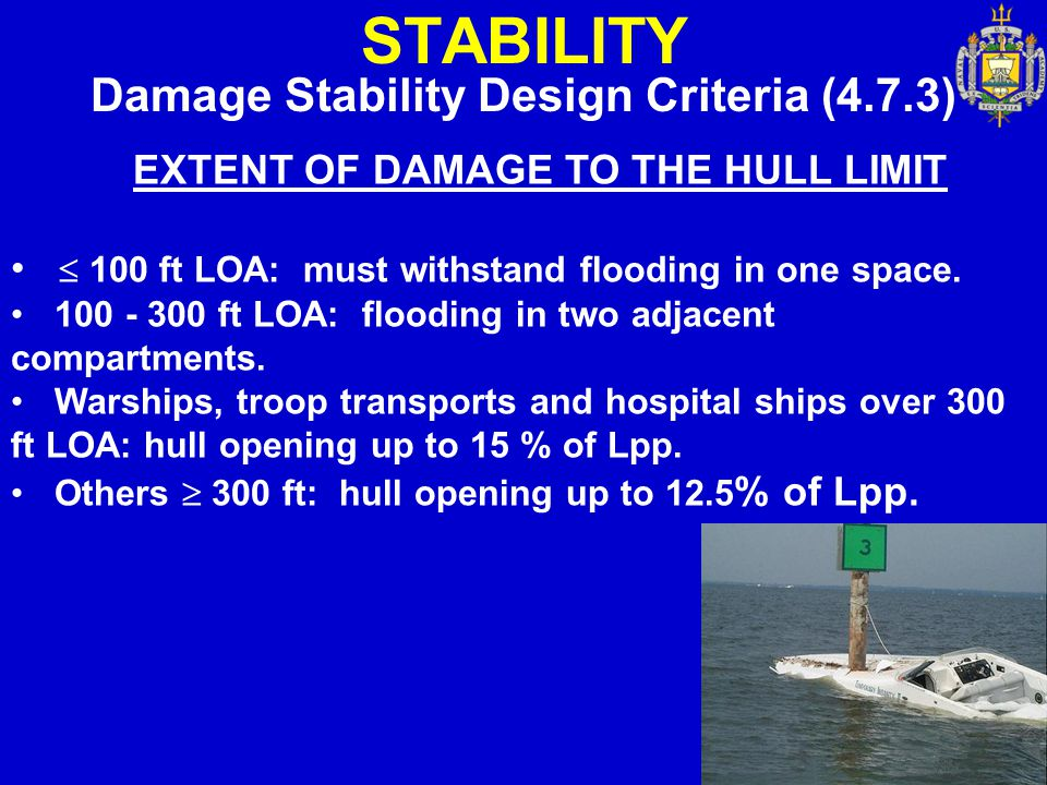 STABILITY Damage Stability Design Criteria (4.7.3)