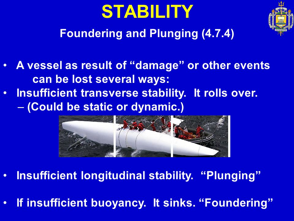 Foundering and Plunging (4.7.4)