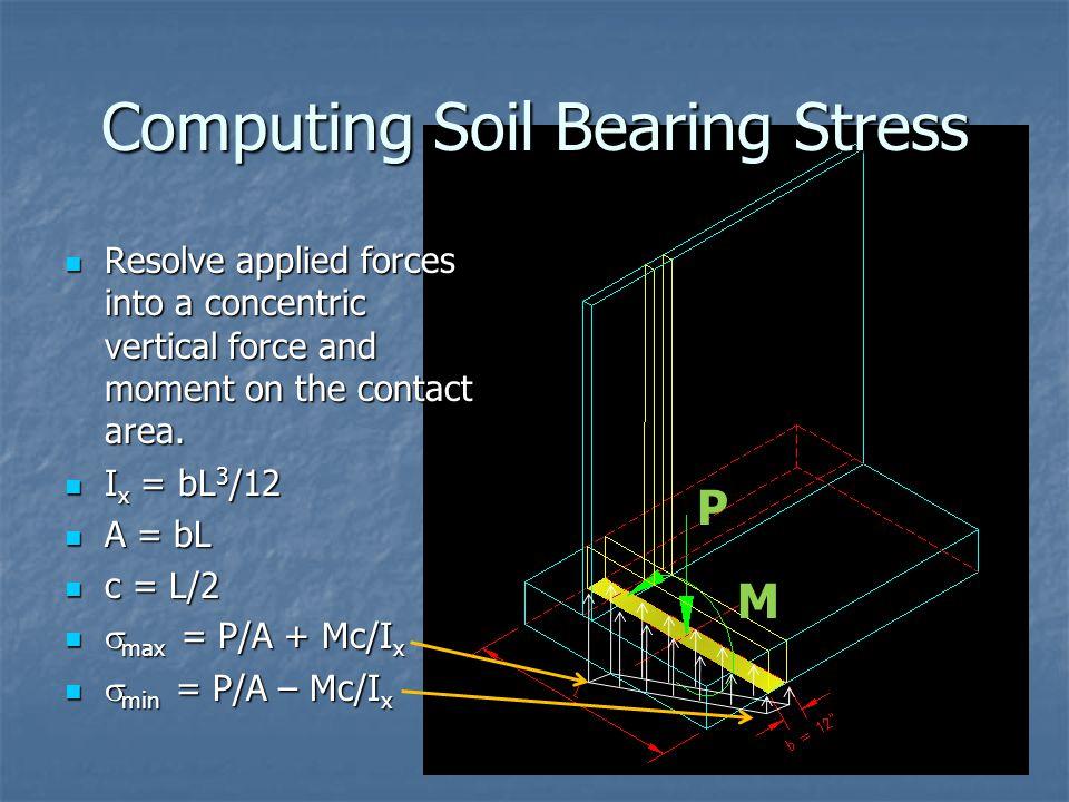 Computing Soil Bearing Stress