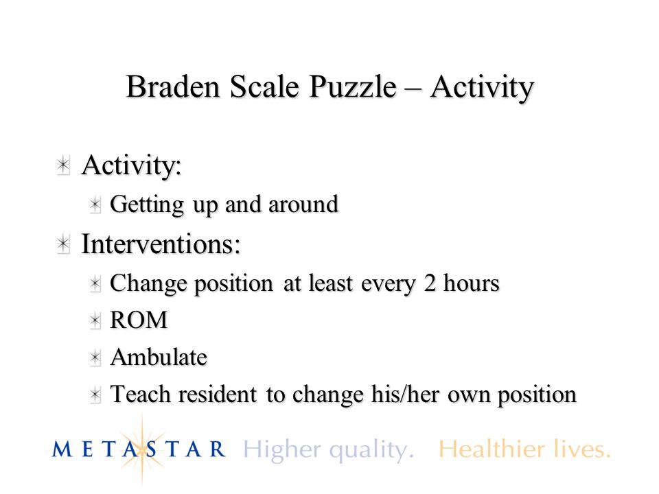 Braden Scale Puzzle – Activity