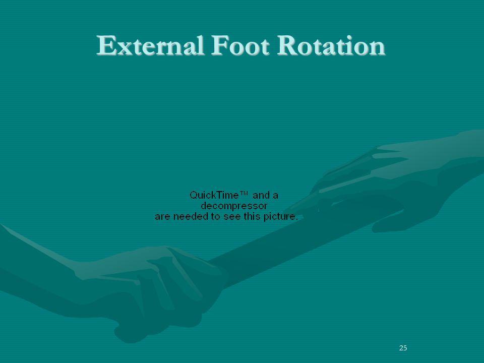 External Foot Rotation