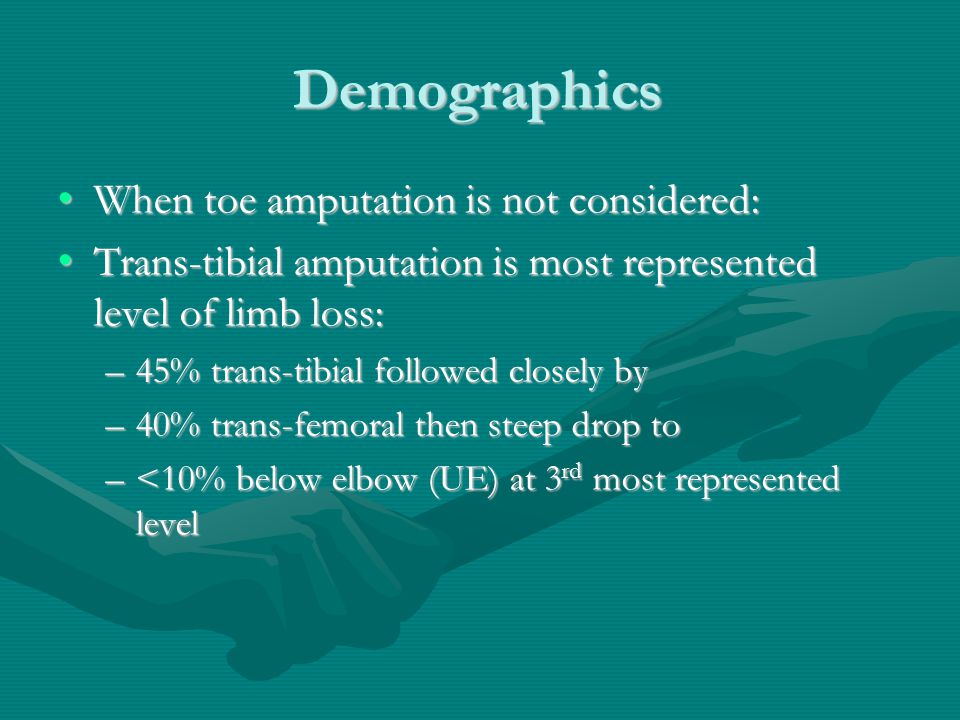 Demographics When toe amputation is not considered: