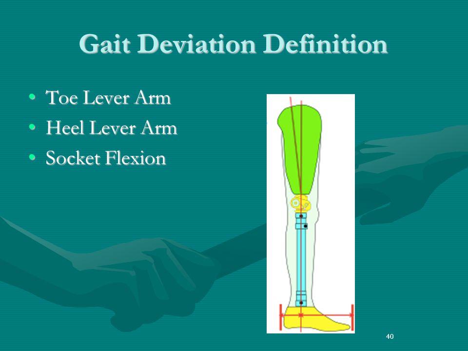 Gait Deviation Definition