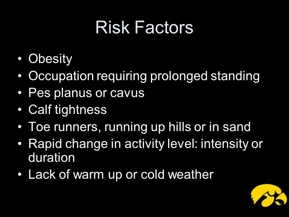 Risk Factors Obesity Occupation requiring prolonged standing